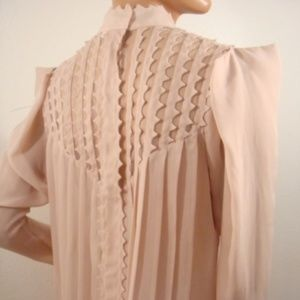 MAX AZRIA COUTURE RUNWAY PINK SHEER TOP EDGY S NEW
